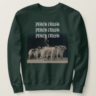 peach crush borzoi sweatshirt