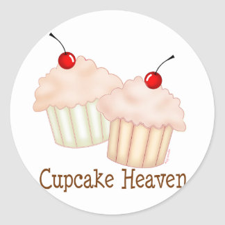 Peach Cupcakes Stickers