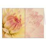 Peach Dahlias Happy Birthday Card