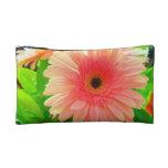 peach daisy bag cosmetic bags