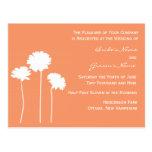 Peach Daisy Invitation Post Cards