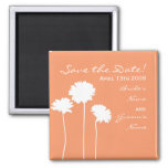 Peach Daisy Save the Date Magnet