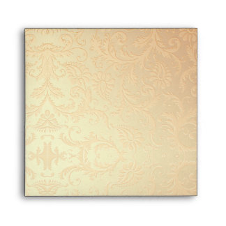 Peach Damask Stripe Envelope