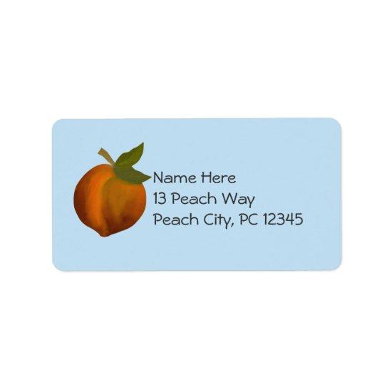 Peach Design.  Customize Label