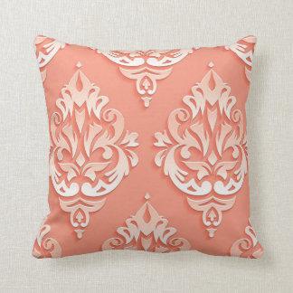 Peach Design Designer Pillow