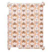 Peach Dog Stripes iPad Cover