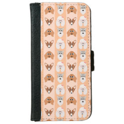iPhone 6 Wallet Case with Poodle Phone Cases design