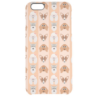 Peach Dog Stripes Uncommon Clearly™ Deflector iPhone 6 Plus Case