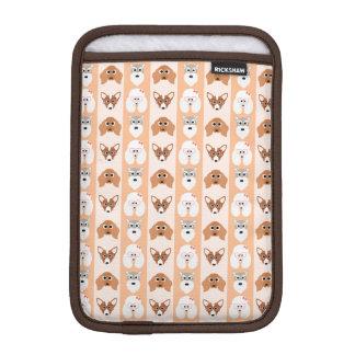 Peach Dog Stripes Sleeve For iPad Mini