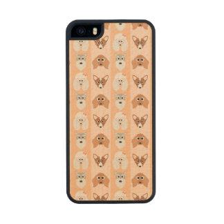 Peach Dog Stripes Carved® Maple iPhone 5 Slim Case