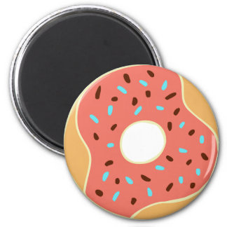 Peach Donut with Sprinkles Magnet