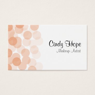 Professional Business Peach Dot Personalized Business Cards