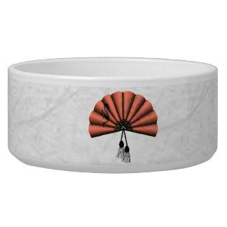 Peach Dragon Fan Pixel Art Bowl
