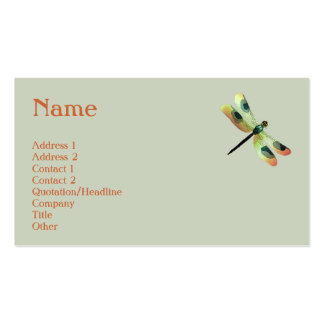 Peach Dragonfly Profile Card Double-Sided Standard Business Cards (Pack Of 100)