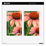 Peach Echinacea Flowers Kindle Fire Decal
