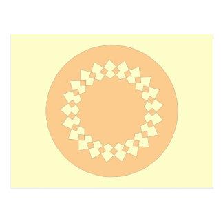 Peach Elegant Round Design. Art Deco Style Postcard