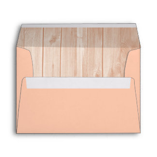 Peach Envelope, Peach Wood Liner Envelope