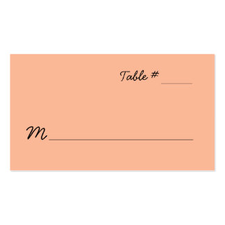 Peach Escort Place Card Double-Sided Standard Business Cards (Pack Of 100)