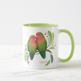 Peach Faced Love Birds Mug