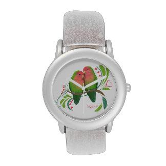 Peach Faced Love Birds Wristwatch