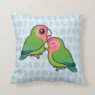 Peach-faced Lovebird Adorable Pair Pillow