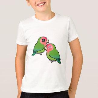 Peach-faced Lovebird Adorable Pair T-Shirt