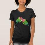Peach-faced Lovebird Adorable Pair Tee Shirt