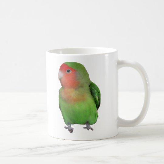 Peach-faced Lovebird Coffee Mug