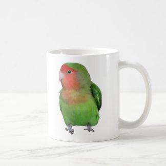 Peach-faced Lovebird Classic White Coffee Mug