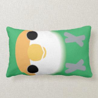 """""""Peach-faced Lovebird (Seagreen) Lumbar Pillow"""