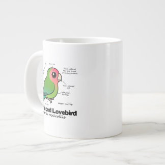 Peach-faced Lovebird Statistics Giant Coffee Mug
