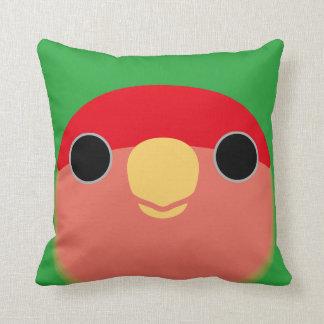 Peach-faced Lovebird Throw Pillow