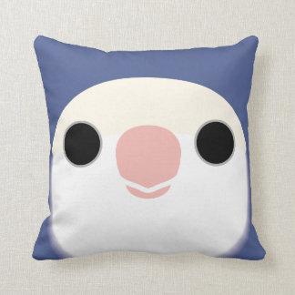 Peach-faced Lovebird (White-faced Violet) Throw Pillow