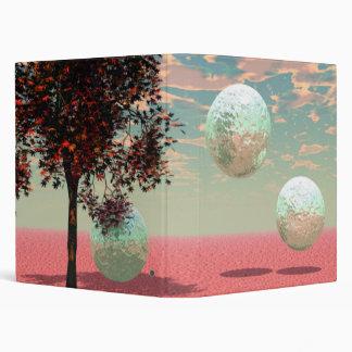 Peach Fantasy – Teal and Apricot Retreat Vinyl Binder