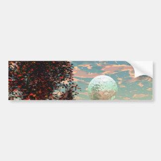Peach Fantasy – Teal and Apricot Retreat Bumper Sticker