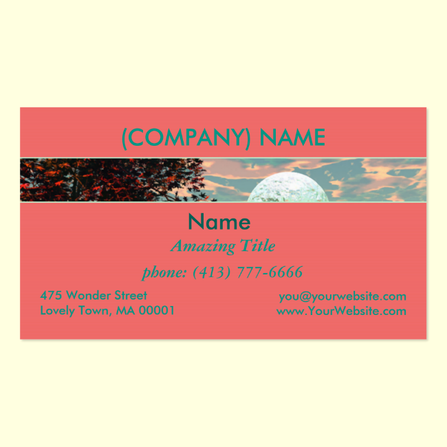 Peach Fantasy, Teal and Apricot Retreat Double-Sided Standard Business Cards (Pack Of 100)