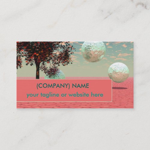Peach Fantasy, Teal and Apricot Retreat Business Card