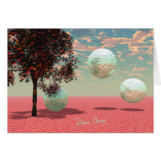 Peach Fantasy – Teal and Apricot Retreat Greeting Card