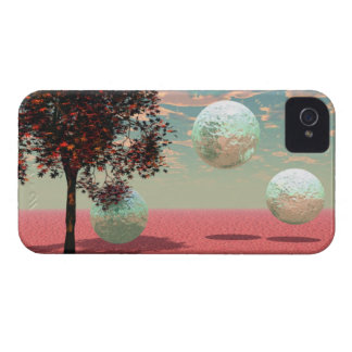 Peach Fantasy – Teal and Apricot Retreat iPhone 4 Case-Mate Case