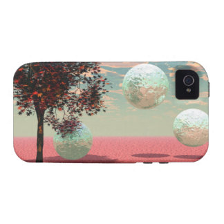 Peach Fantasy – Teal and Apricot Retreat iPhone 4 Cover
