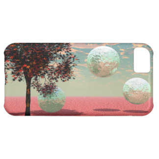Peach Fantasy – Teal and Apricot Retreat Cover For iPhone 5C