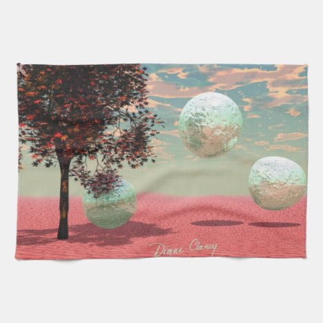 Peach Fantasy – Teal and Apricot Retreat Hand Towel