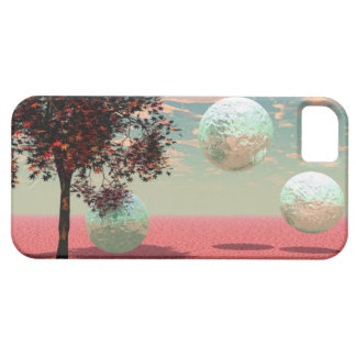 Peach Fantasy – Teal and Apricot Retreat iPhone SE/5/5s Case