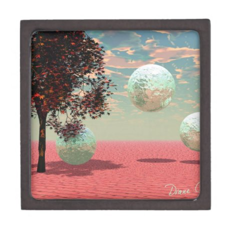 Peach Fantasy – Teal and Apricot Retreat Keepsake Box