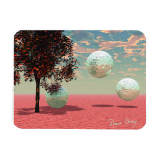 Peach Fantasy – Teal and Apricot Retreat Magnet