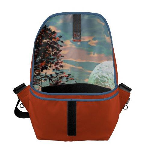 Peach Fantasy – Teal and Apricot Retreat Messenger Bag