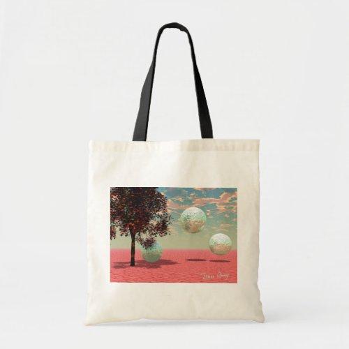 Peach Fantasy – Teal and Apricot Retreat Tote Bag