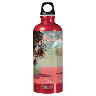 Peach Fantasy – Teal and Apricot Retreat Water Bottle