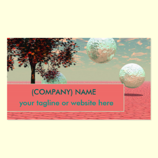 Peach Fantasy, Teal, Cyan, Apricot Retreat Double-Sided Standard Business Cards (Pack Of 100)