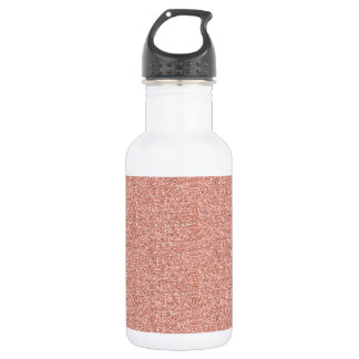 Peach Faux Glitter Water Bottle
